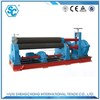 SW11 type 12x3000 roll plate rolling machine for production of boiler