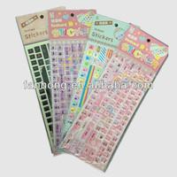 computer keyboard/clavier/fingerboard/key panel/keyset stickers