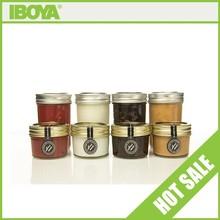 4 oz Eco Tapered Mason Jar w/Gold Lid