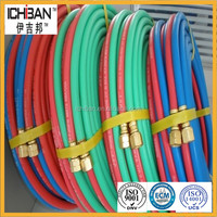 2015 new product smooth fibre reinforced welding rubber hose oxygen/acetylene/LPG /twin line hose