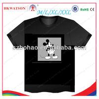 2013 hot selling ktv flashing light up down t shirt led,custom music panel el t-shirt suppliers