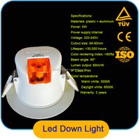 High Quality LED Downlights 5W CHINA led wave downlight SUPPLIER led manufacturers