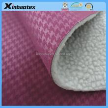 3 layers of multi-functional fabric using embossed Interlock fabric and TPU Film and artificial Berber Fleece