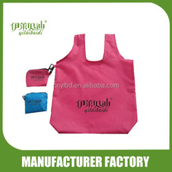 Polyester folding bag /Vest bag with dot