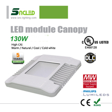 Hot! UL DLC LED canopy light 130W energy efficient retrofit light for gas station good quality LED garage and canopy fixture