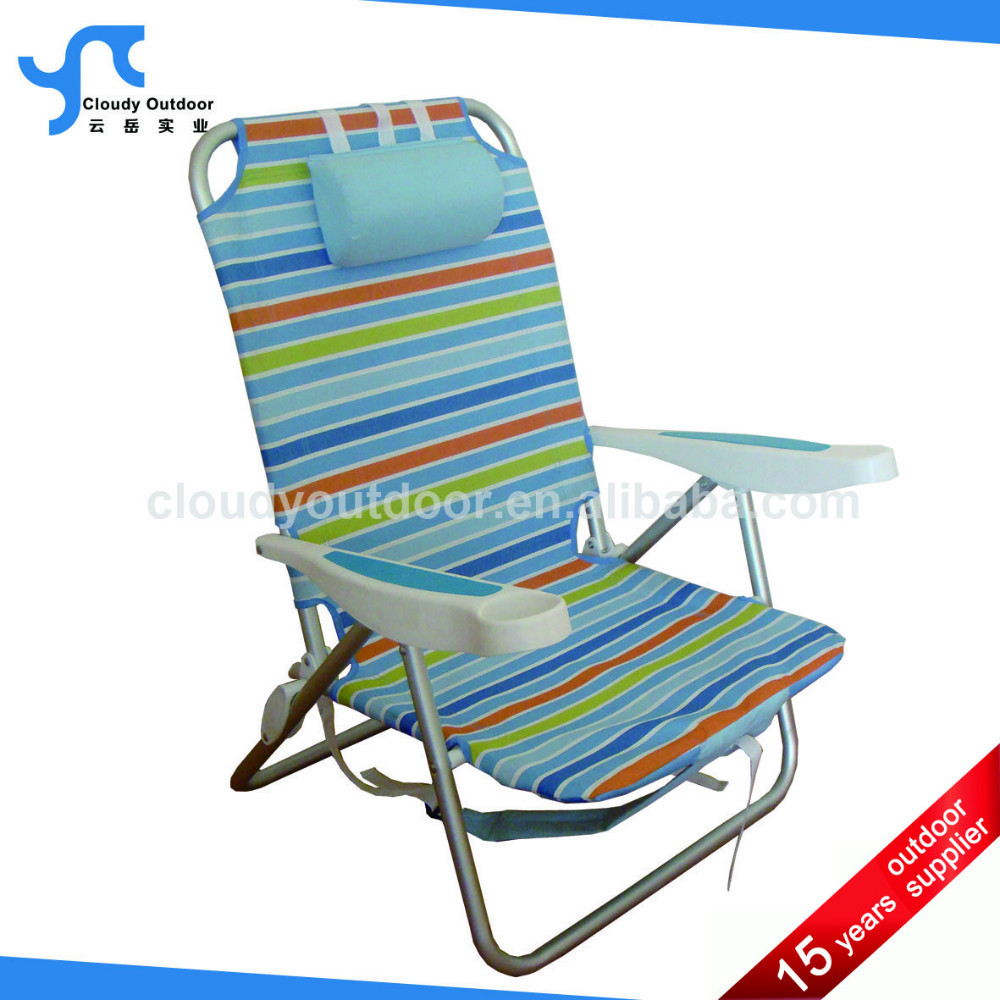 Aluminum backpack folding beach lounge chair with jpg quotes for Chaise longue pliante plage