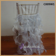 C009W1 cheap wedding decorations light grey organza china chair cover