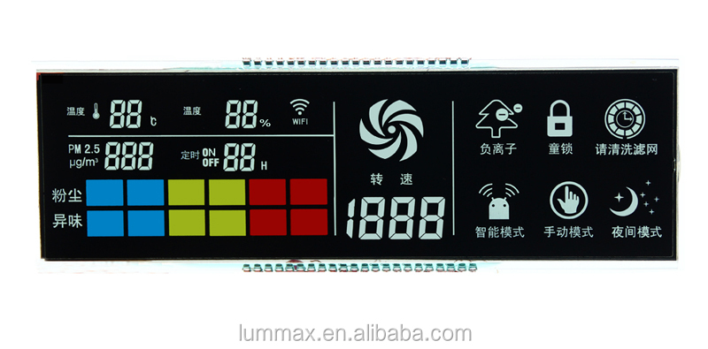 Segments LCD Display Custom segment LCD, View segment LCD display ...