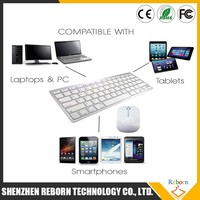 2.4G Ultra Slim Portable Wireless Keyboard And Mouse USB Receiver Kit For PC PAD Mini Wireless Keyboard