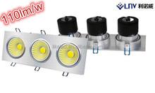 Three Head Square LED Spot Ceiling Lamp