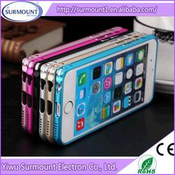 free fashion aluminum thin metal mobile phone frame case cheap new aluminum bumper case for iphone 6