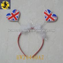 Fashion Heart Shape Mini World Flags Headbands For National Day