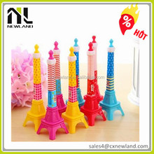 Wholesale Various Types Iron Tower Shape Fancy Cartoon Ball Pen