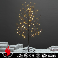 outdoor color changing led glass christmas light tree frame