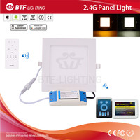 2.4g CCT ultra thin led panel light 9w + Mi light RF remote control + 2.4g smart wifi controller
