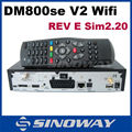 Set-topbox dm800hd si v2 versão 2.20 simcard receptor de satélite hd wifi opcional
