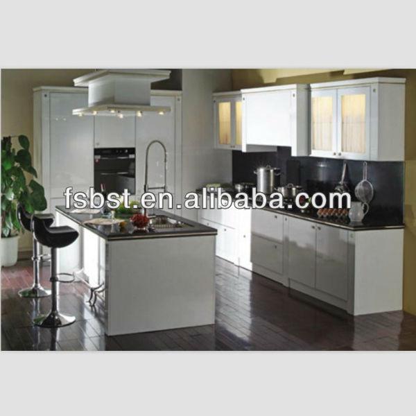 미국 스타일의 주방 가구 ak103 흰색 옻칠 주방 캐비닛 pvc 라미 ...