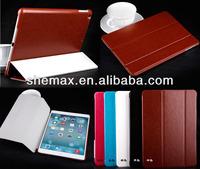 Hard plastic holder Laptop Leather Bag For iPad mini 2 Smart Case