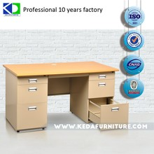 Elegant steel tube office use compact computer desk for sale