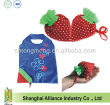 Reusable Shopping Tote Bag - Folded into a Strawberry