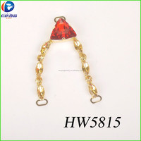 V Shape shoe chain series Colorful Crystal Shoe Jewelry shoe accessories chain