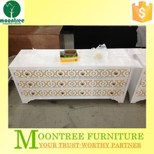 Moontree MCB-1164 china factory modern wooden white bar cabinet