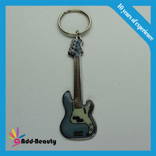Hard enamel guitar keychain and marvel keychain capitain with america keychain