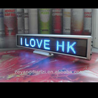 New Product Led Mini Car Sign Led Display Sign