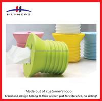 Tissue Holder/ Round Tissue Box / Plastic Tissue Box
