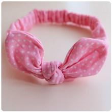 Cute fashion cotton infant bunny ear hair bow headbands stretch baby hair accessories