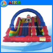 Big space clown slide, inflatable clown slide slip with arch, inflatable clown arch slide