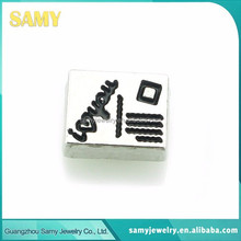 2015 good quality factory price custom made metal floating charms