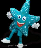 customized blue star mascot costume