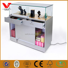 Jewelry glass display cabinet/jewelry display case/shop lighting counters