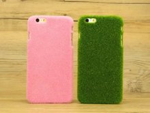Brand New Item Decoration Protective Plastic and Grass Phone Case for IPhone 6/6s