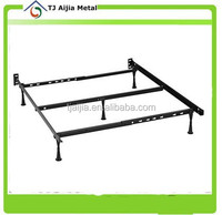 9 Leg Glides Metal Adjustable Bed Frame Fits Twin, Full, Queen, King & Cal King