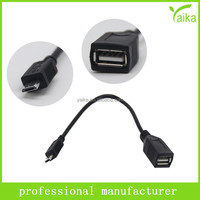 alibaba cheap cable manufacturer short micro usb otg adapter cable for huawei v8 Samsung
