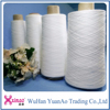 Raw white 100 spun polyester yarn 20/2 and 20/3
