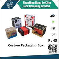 Best factory price of custom cardboard packing solution