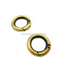 Made In China High Quality Metal Antiuqe Brass Round Ring For Bag