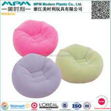 Factory direct supplier customize soft flocking inflatable bean bag chair