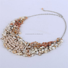 Best seller costume jewelry fashionable style 2015 coconut handmade necklace fancy cowry jewelry tahitian shell necklace