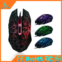 2015 New Design Crack Color Gaming Mouse With 4000 DPI 6D Buttons Led Back Light USB Wired Game Mice For Laptops Desktop Mouse