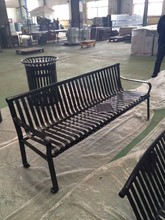 High quality logo customized stainless steel outdoor bench kits for Public Parks