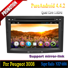 """New Quad Core 7"""" Android car dvd radio for peugeot 3008/5008/partner/Citroen Berlingo car dvd player Android 4.4.2"""