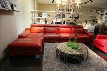 Color brillante y moderno mobiliariodesala 2015/sofá de cuero f1365