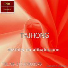 2012 hot selling plain dyed red dacron cotton fabric