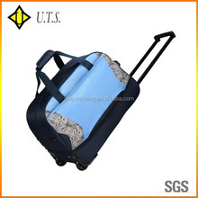 trolley sport luggage travel bags wheeled duffle bag