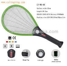 Hot sales Rechargeable electric mosquito fly-RacketTraps pest control with 1LED light