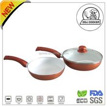 Pressed Aluminum nonstick Ceramic coating/Marbel coating /wonderful Fry pan